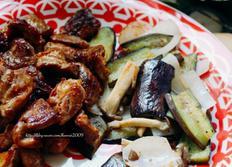 집밥상차림 (f:된장찌개, 부추무침, 갈매기살구이)
