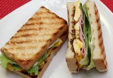 햄에그 샌드위치 만들기