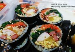 집에서 유명한김밥집 못지않게~ 알록달록 예쁘게, 김밥말기!