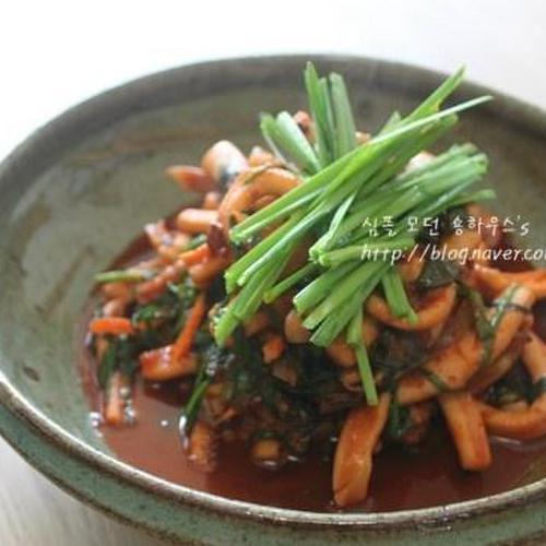 [집밥] 오징어 손질 부터 오징어볶음 황금레시피 # 부추오징어볶음