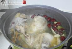 닭백숙과 간장소스