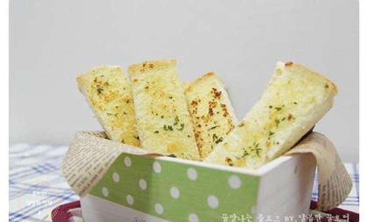 식빵으로 마늘빵 만들기