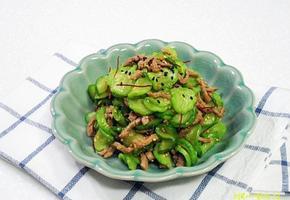 아삭아삭 맛있는 오이나물~소고기 오이볶음