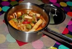 캠핑요리,해장으로도 좋은 어묵 오징어찌개/오징어 섞어찌개
