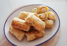만두피요리 떡 치즈 튀김