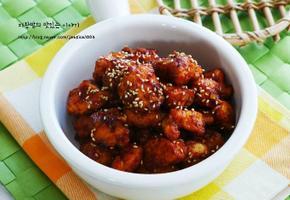 매콤달콤 맛있는 닭강정 만들기