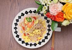 매운 돼지고기 볶음 쌀국수 만들기