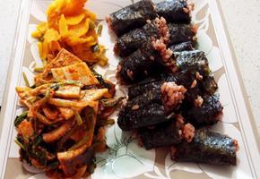 충무김밥 오징어무침만들기