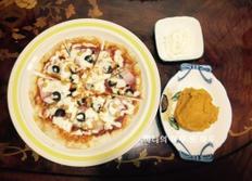 또띠아 피자 만들기! 간단하고 맛있는 피자 만들기! 피자 만드는 법! - 아이들과 함께 만들 수 있는 요리!!
