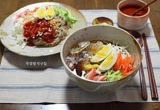메밀 비빔국수와 냉메밀국수
