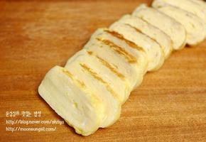 가정에서 만드는 쉬운 일본풍의 달걀말이