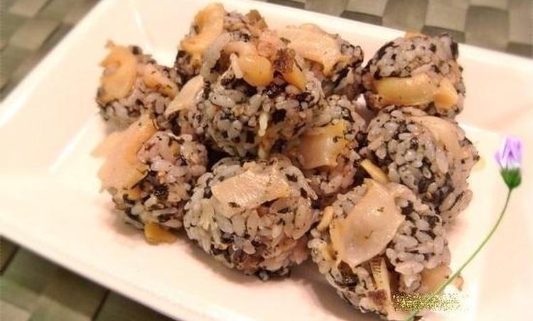 전복 주먹밥