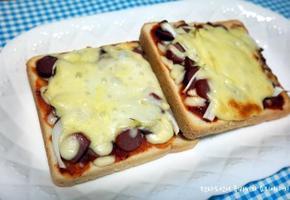 식빵피자 어린이간식&야식 간단한 오븐요리