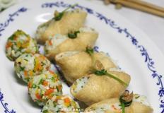 단호박이 듬뿍 유부초밥
