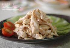 닭가슴살깨소스냉채
