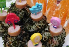 느린바다 유기농자반김으로 만든 꼬마주먹밥