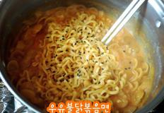 [해외자취Cook.feel通]264. 우유불닭볶음면 레시피 (불닭볶음면/불닭볶음면 덜맵게/불닭볶음면 맛있게)