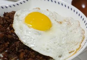 [중화풍덮밥] 드라이카레 아닌 드라이짜장 :: 춘장으로 달콤짭짤하게 양념한 돼지고기덮밥