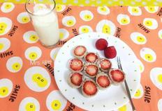 초간단레시피 아침대용 예쁜 딸기샌드위치 만드는법