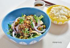 귀리밥 렌틸콩 소고기 샐러드