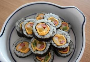 치즈김밥 - 간소한 재료로 이쁘게 김밥싸기