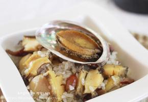 전복영양밥과 부추양념장으로 만든 한그릇음식