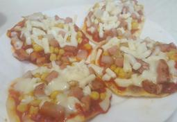만두피 피자 만들기(노오븐요리)