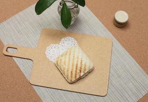 남은 빙수팥으로 치즈 단팥 샌드위치