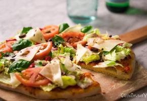 발사믹드레싱 피자 (샐러드) 피자도우 만드는 법