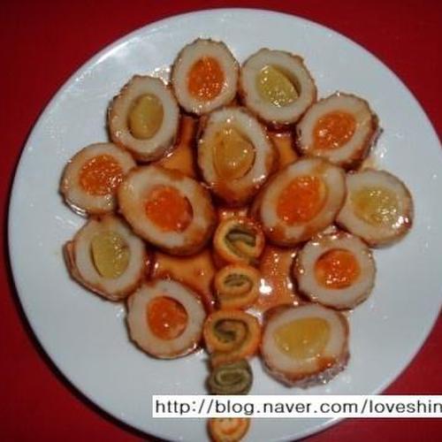 구멍어묵과 과일의 만남/ 과일 어묵조림