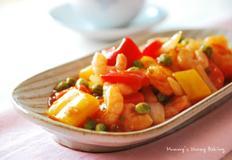 새우랑 콩이랑~ 새우야채 케첩볶음