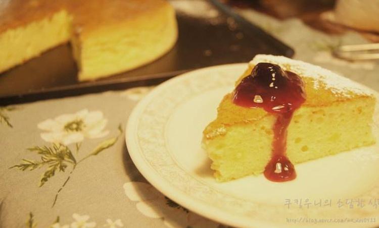 슬라이스 치즈로 만드는, 치즈 케이크