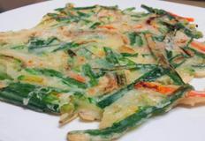 건강한 쌀 부침가루를 사용한 야채부침개!