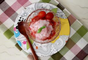 상큼한 토마토 빙수 만들기 [토마토요리]