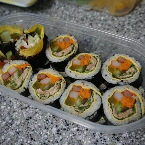 땡초 참치김밥 만들기