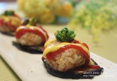 닭가슴살 주먹밥 가지 카나페