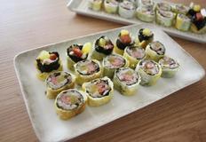 스팸 꼬마김밥 - 재료는 소박하지만 맛보장 달걀말이김밥