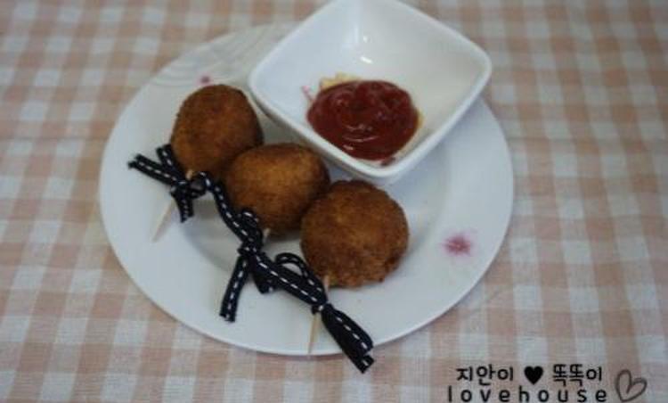 야채 치즈 튀김볼