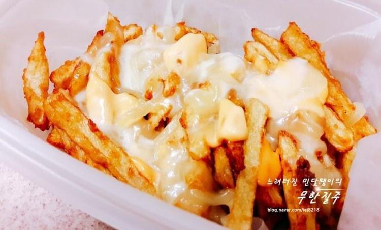 오지치즈후라이 만들기 감자튀김 치즈감자튀김 만드는 방법