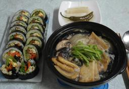 집에 있는 재료로 만든 아삭아삭 통 큰 김밥