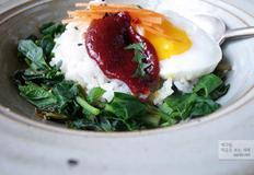 취나물 비빔밥, 제철 나물이 몸에 좋다.