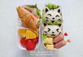 고양이 주먹밥 도시락