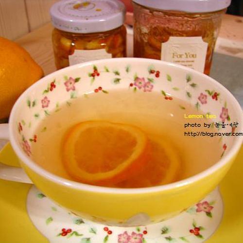 감기에 좋은 레몬차