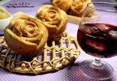 와인향이 가득한 장미꽃 머핀