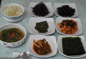 꼬시래기무침&청각무침&건파래무침&갑오징어미역무침&해조류비빔밥