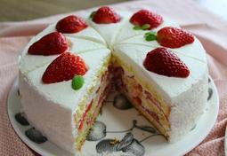 딸기 생크림 케이크 만들기