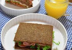 통곡물빵 햄치즈 샌드위치 만들기