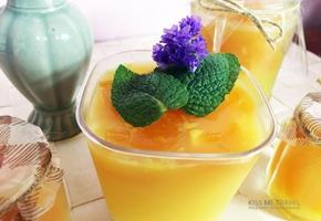 상큼, 탱글한 과일푸딩 만들어보세요 :) (w.오렌지주스 + 살구)