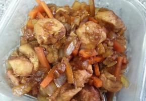 아기반찬 닭고기야채 간장조림 만들기