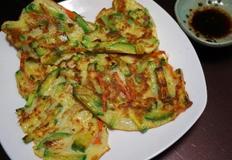 부침가루 없이 만드는 호박야채부침개!